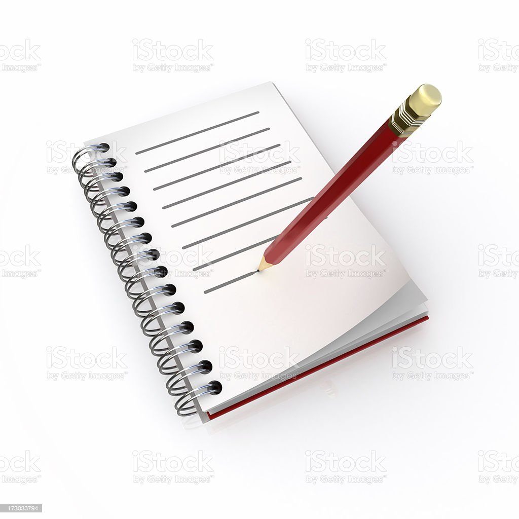 note book with pencil royalty-free stock photo