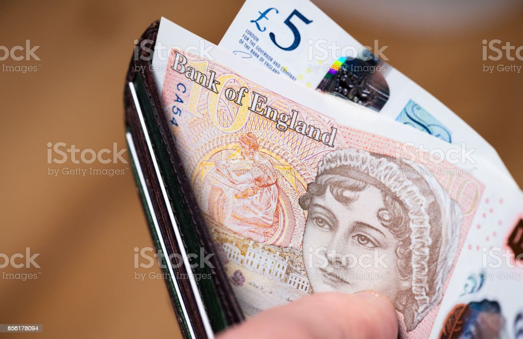 UK £10 Note featuring Jane Austen stock photo
