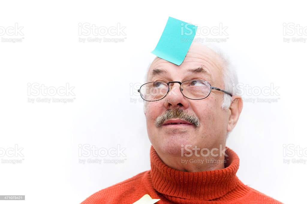 Note on head royalty-free stock photo