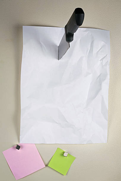 Note on Refridgerator Door stock photo
