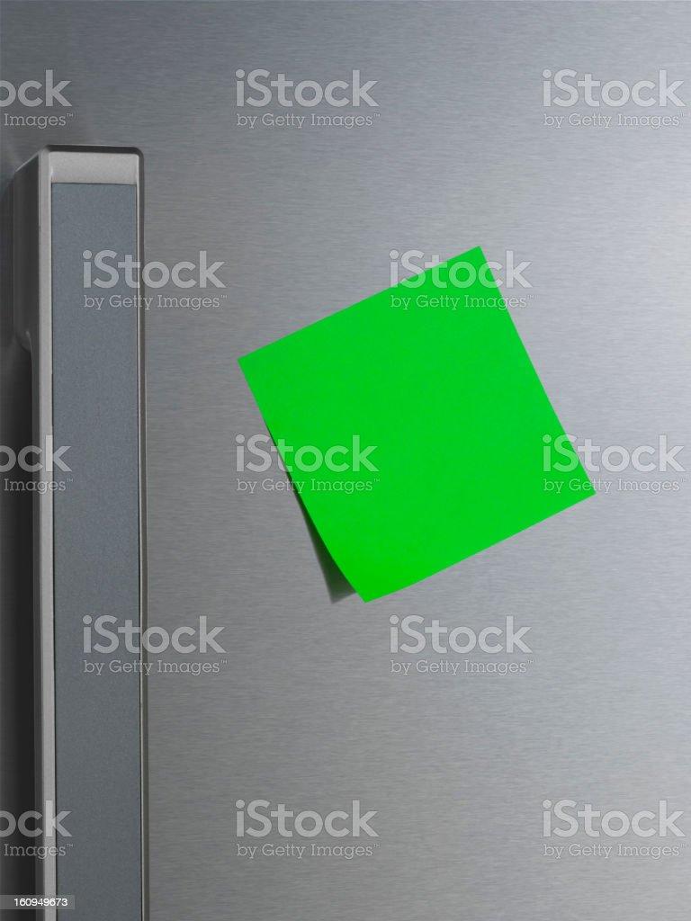 Note on Refrigerator Door royalty-free stock photo