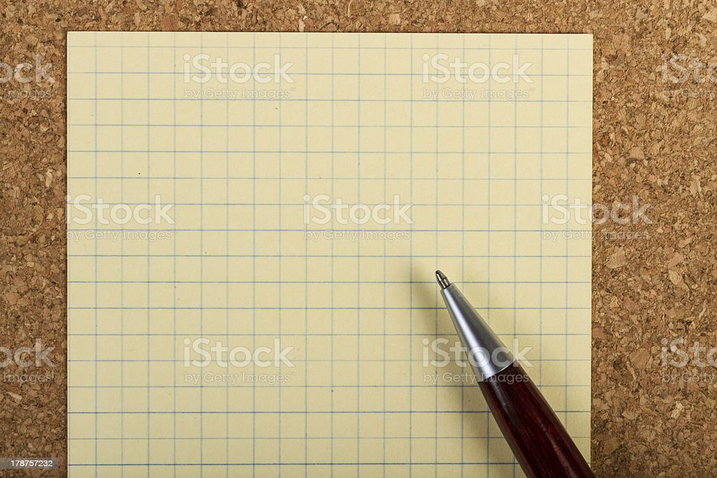 Note pad and pen stock photo