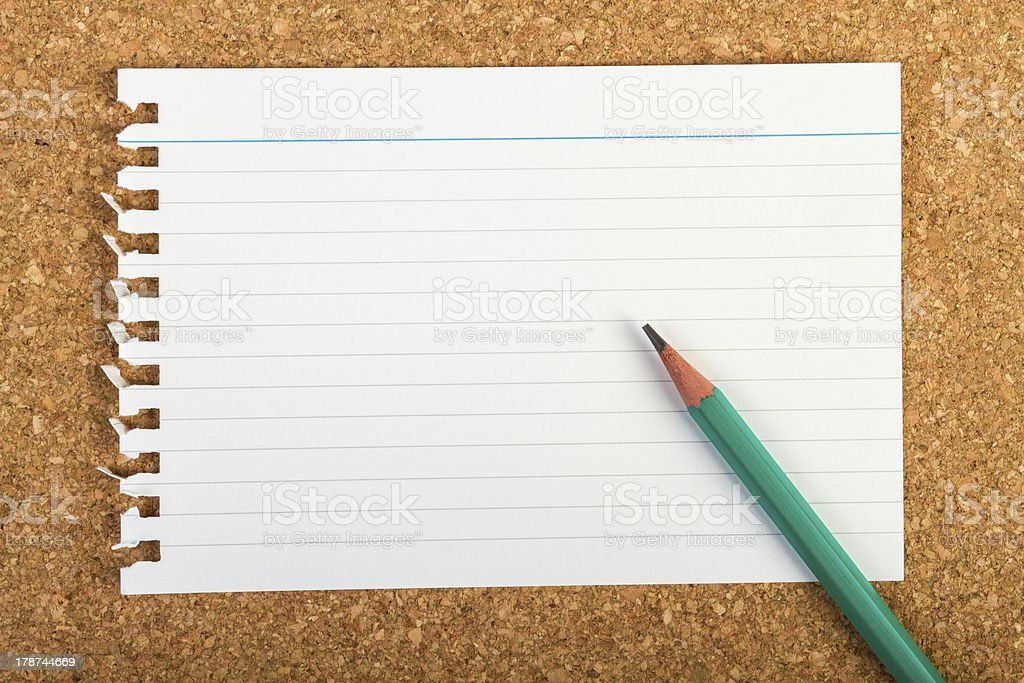 Note pad and pencil royalty-free stock photo