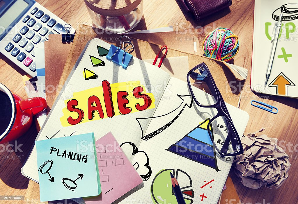 Note Pad and Sales Concept royalty-free stock photo