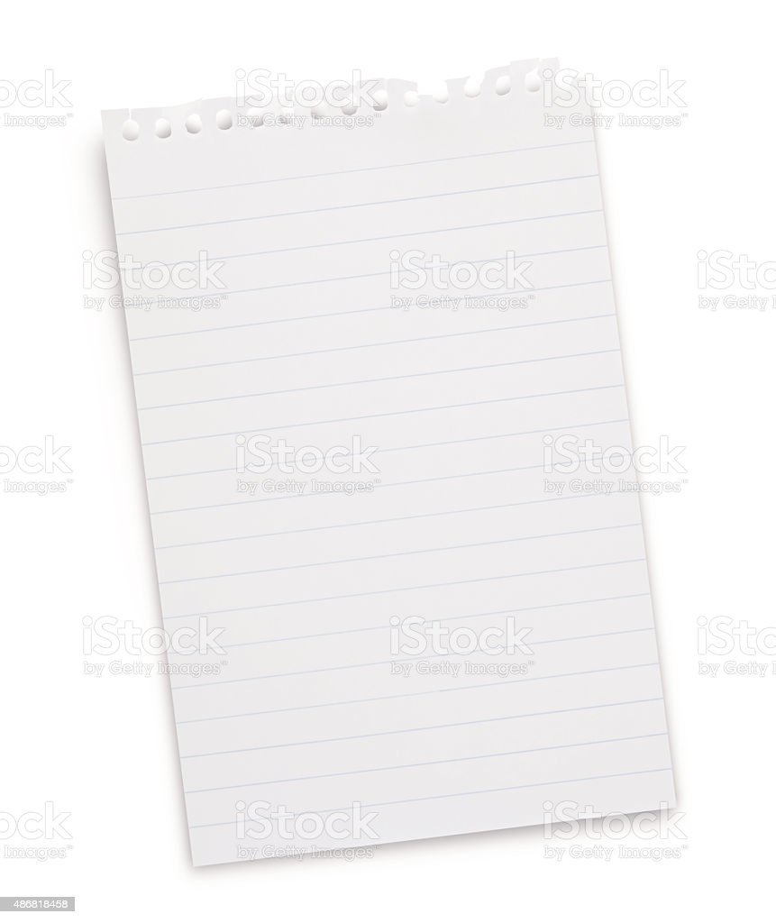 Note Pad Page (with path) stock photo