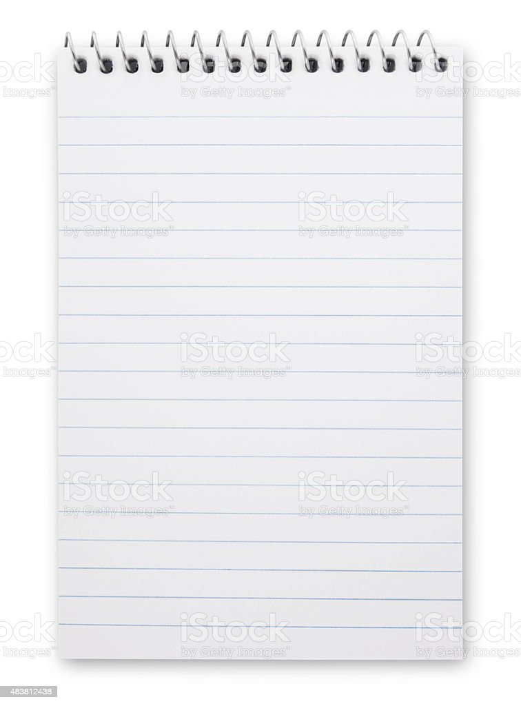Note pad (with path) stock photo