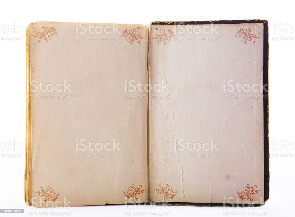 Note pad with ornament stock photo