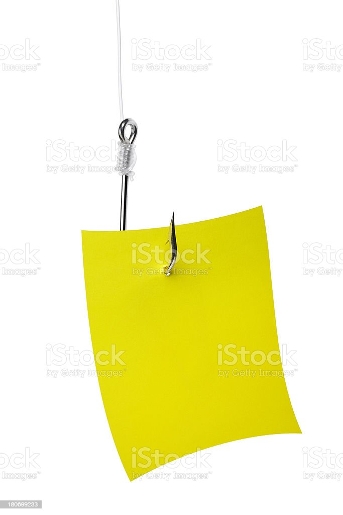 Note paper bait concept royalty-free stock photo