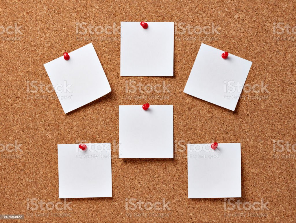 note paper corkboard label message post it stock photo
