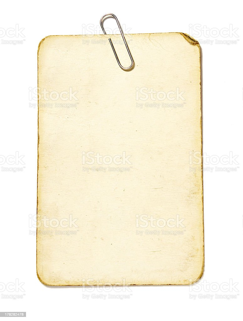 note paper grunge blank stock photo