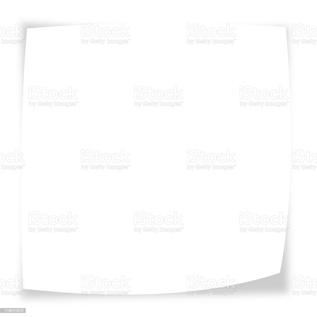 Note Paper Isolated on White royalty-free stock photo