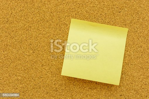 istock Note paper on the cork board 530434584