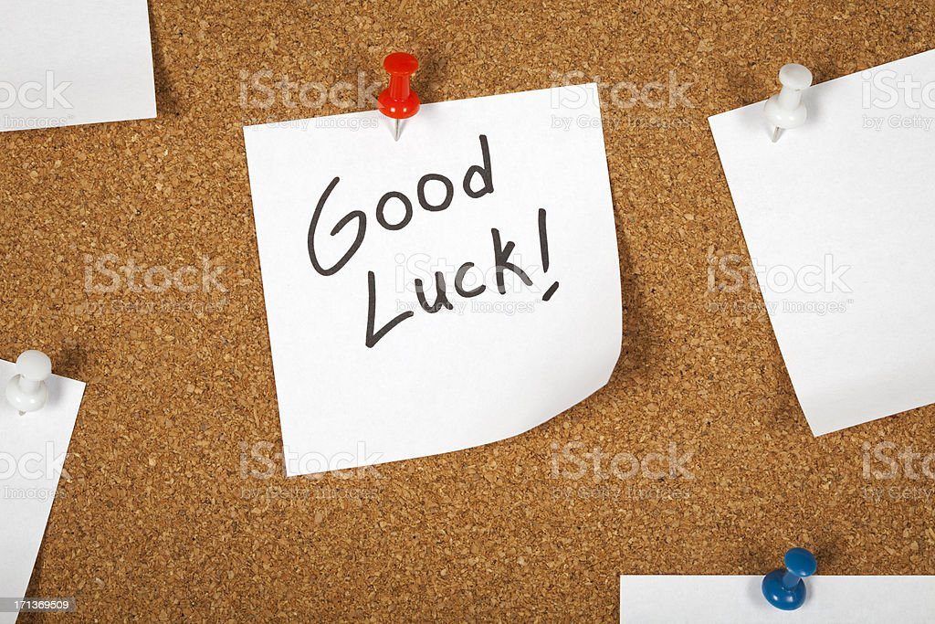 Note paper (Good Luck ! ) royalty-free stock photo