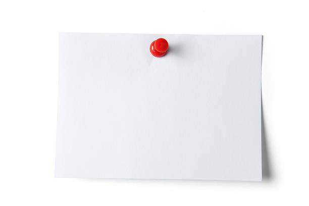 Hinweis Papier mit Push-Pin – Foto