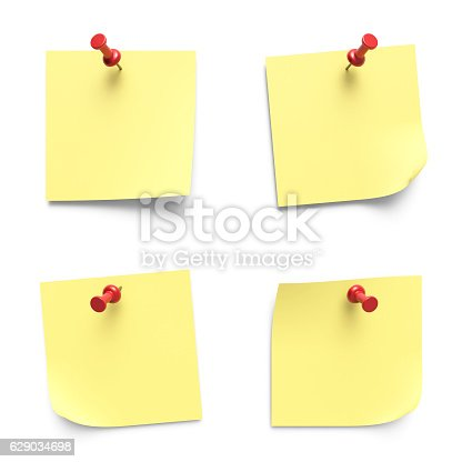 istock Note papers 629034698