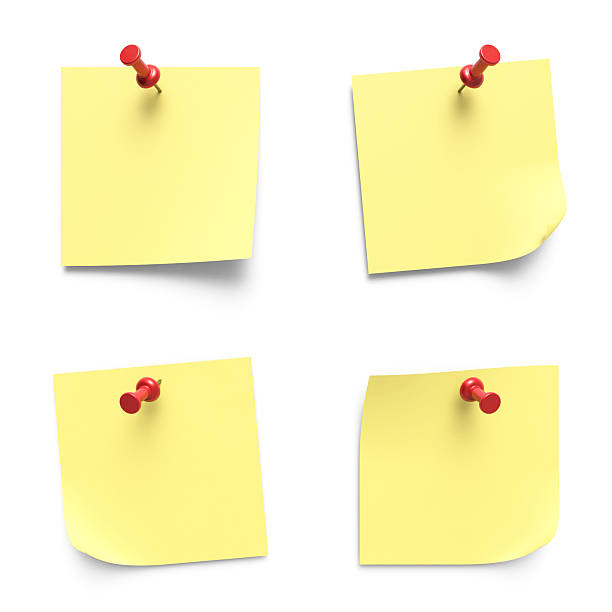 note papers - adhesive note stock photos and pictures