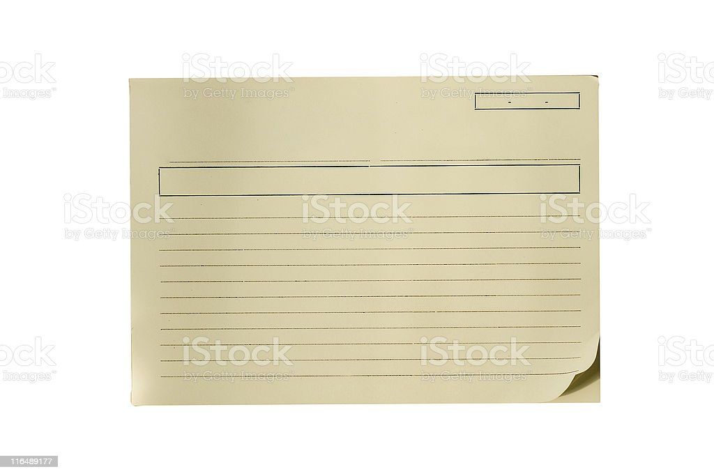 Note blank paper Attached Stock Photo
