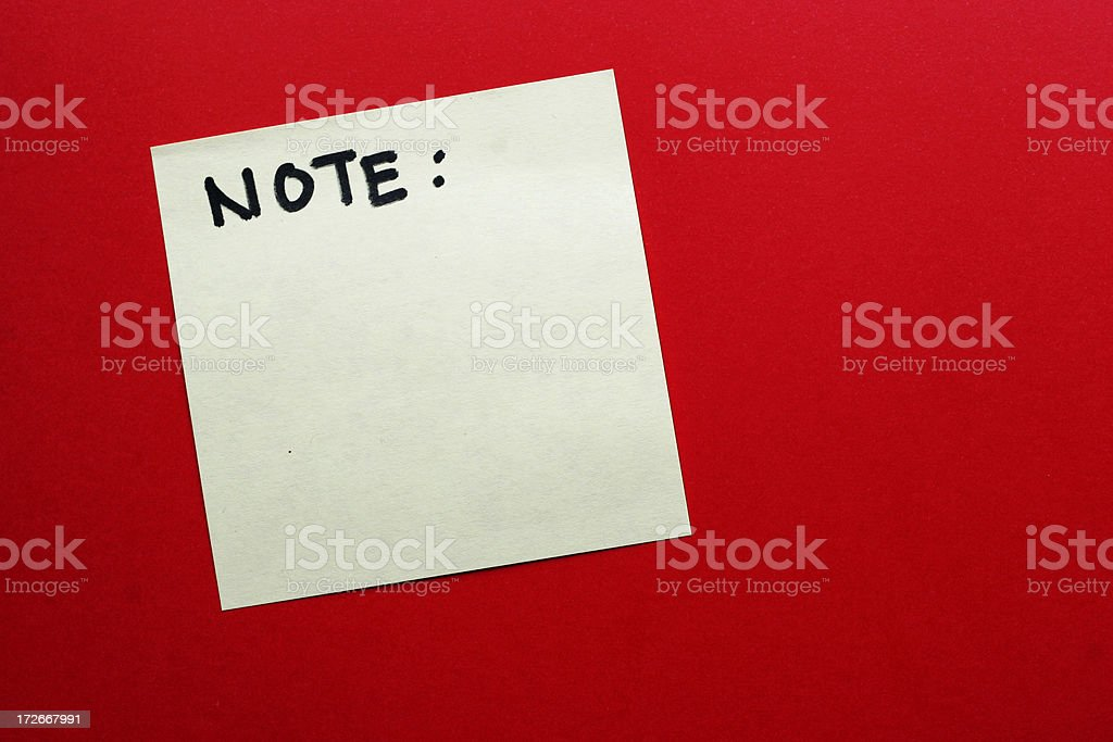 Note! royalty-free stock photo