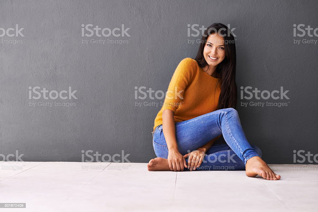 Note to self: Relax stock photo