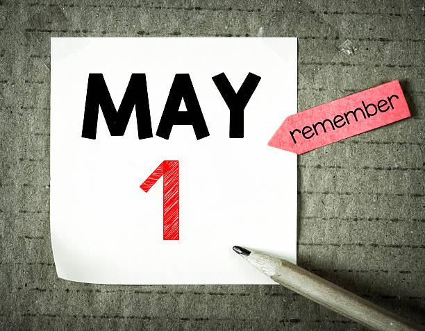 note avec le 1er mai - 1er mai photos et images de collection