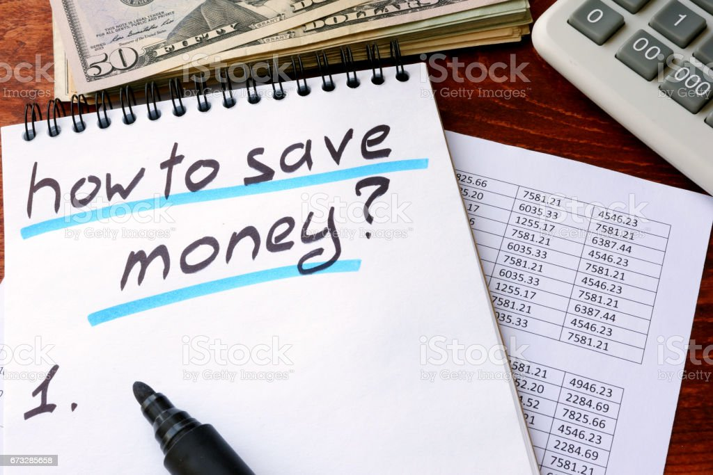 Note with title how to save money. royalty-free stock photo
