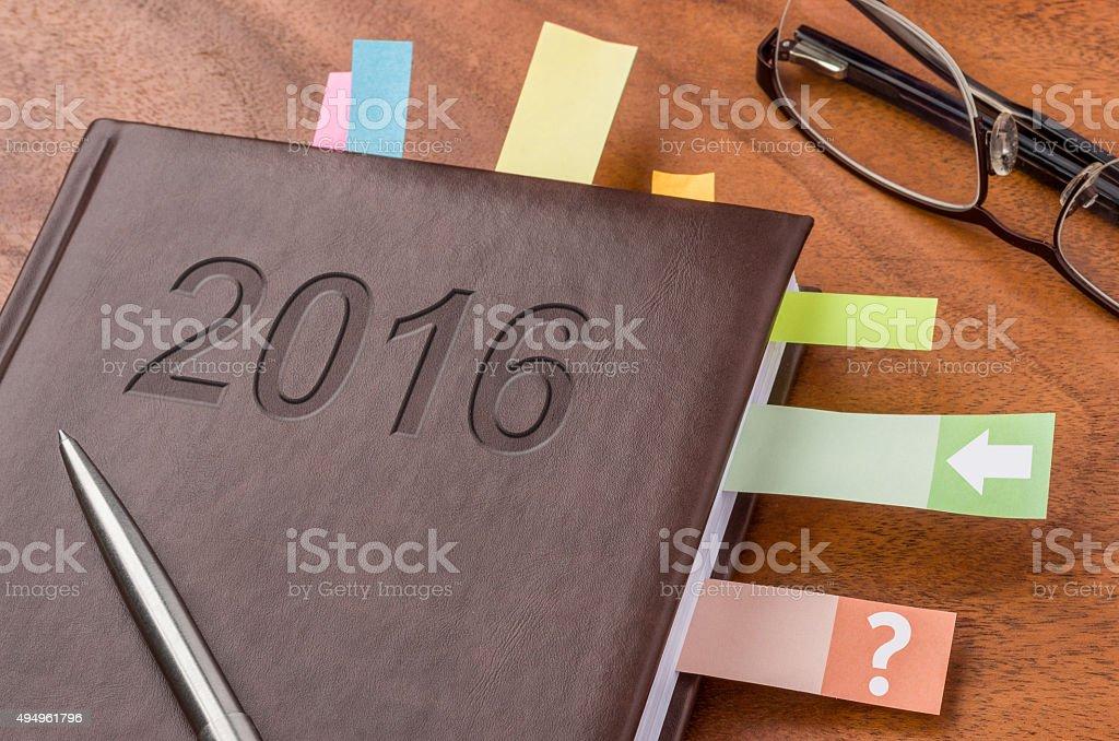 Notebook 2016 stock photo