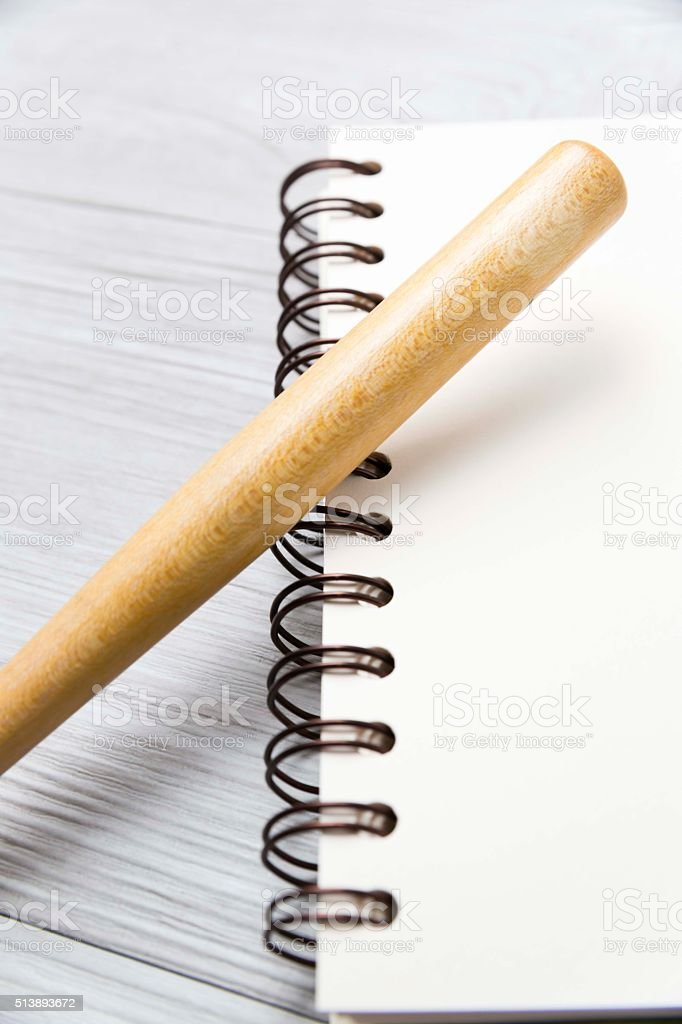 notebook and ballpen3 stock photo