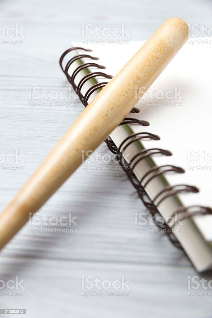 notebook and ballpen4 stock photo
