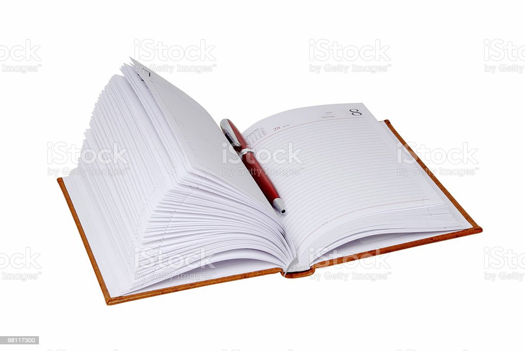 Notebook and ballpoint royalty-free stock photo