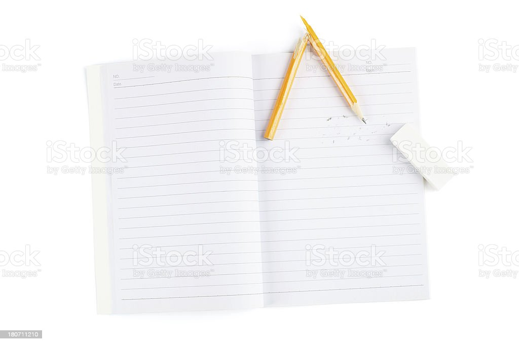 Notebook and Brolen Pencil royalty-free stock photo