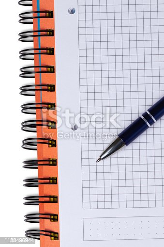 istock Notebook and pen 1188496944