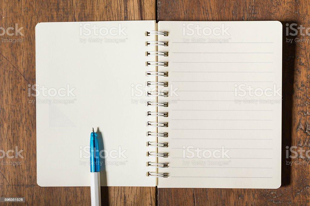 Notizbuch und Stift  Lizenzfreies stock-foto