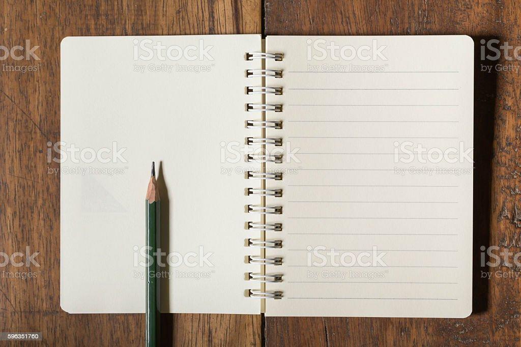 Notizbuch und Bleistift  Lizenzfreies stock-foto