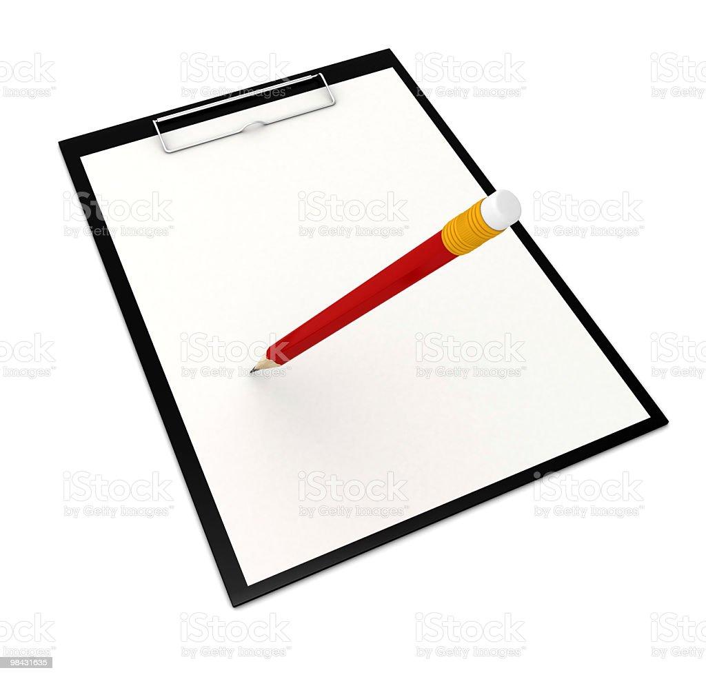 Portatile e matita foto stock royalty-free