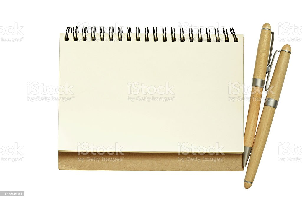 Notebook and pens royalty-free stock photo