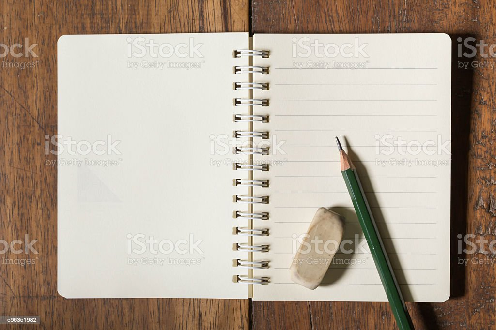 notebook and stationary royalty-free stock photo