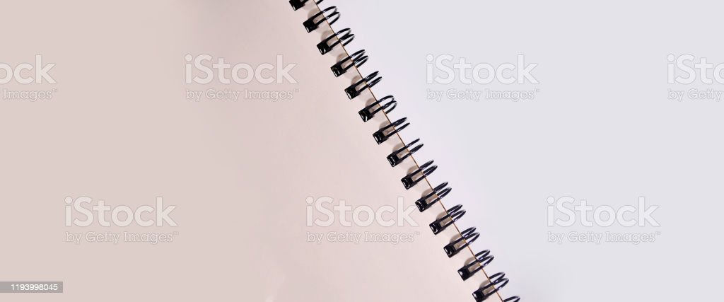 Notebook border background. Blank notebook background space for advertising text. Advertisement Stock Photo