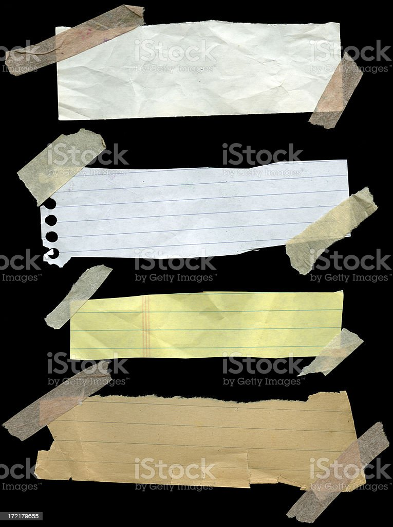 Notebook Clippings royalty-free stock photo