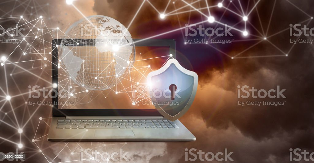 Notebook computer. royalty-free stock photo