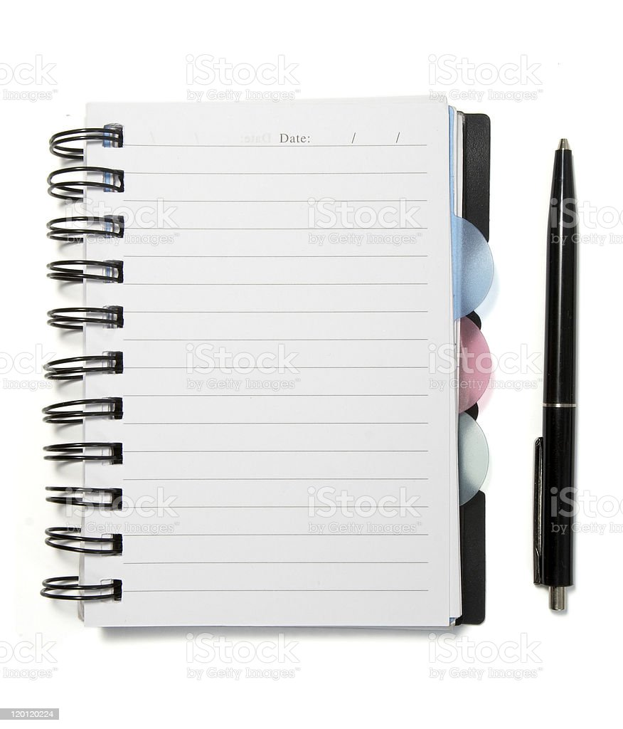 notebook empty royalty-free stock photo