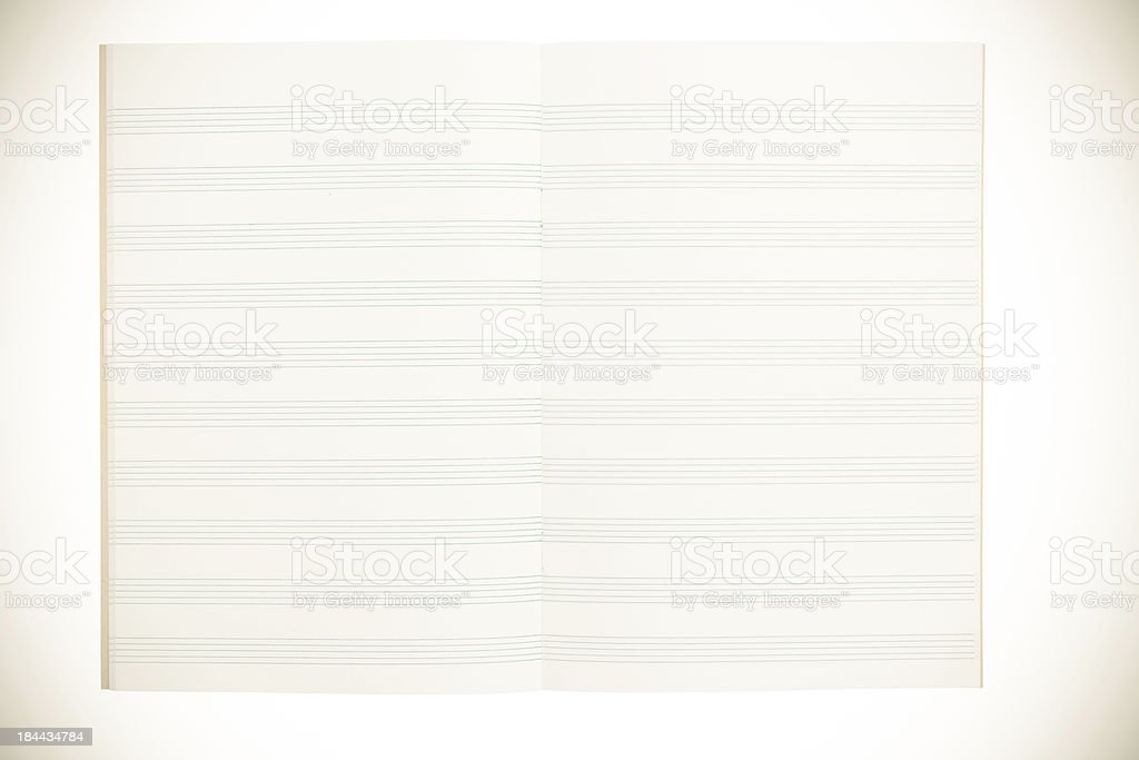 notebook for musical notes stock photo