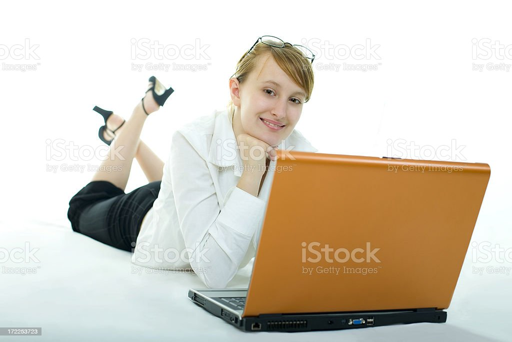 notebook girl royalty-free stock photo