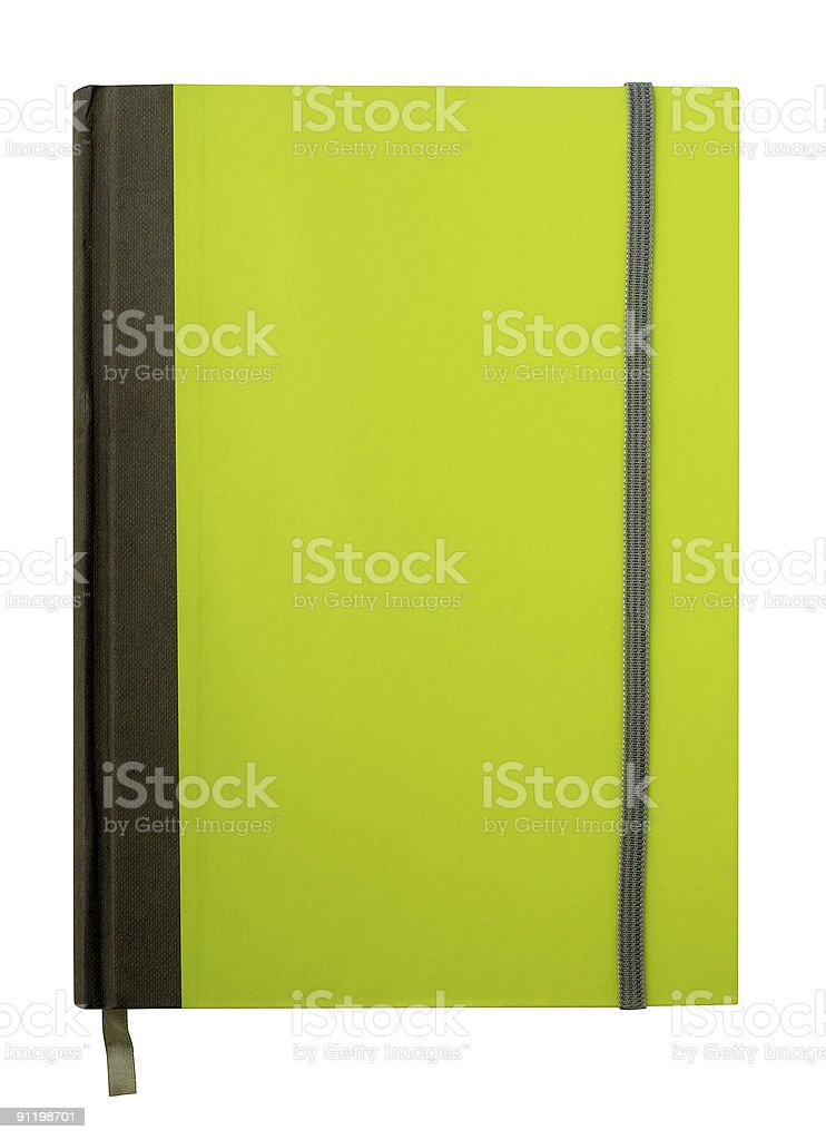 Notebook isolated with path royalty-free stock photo
