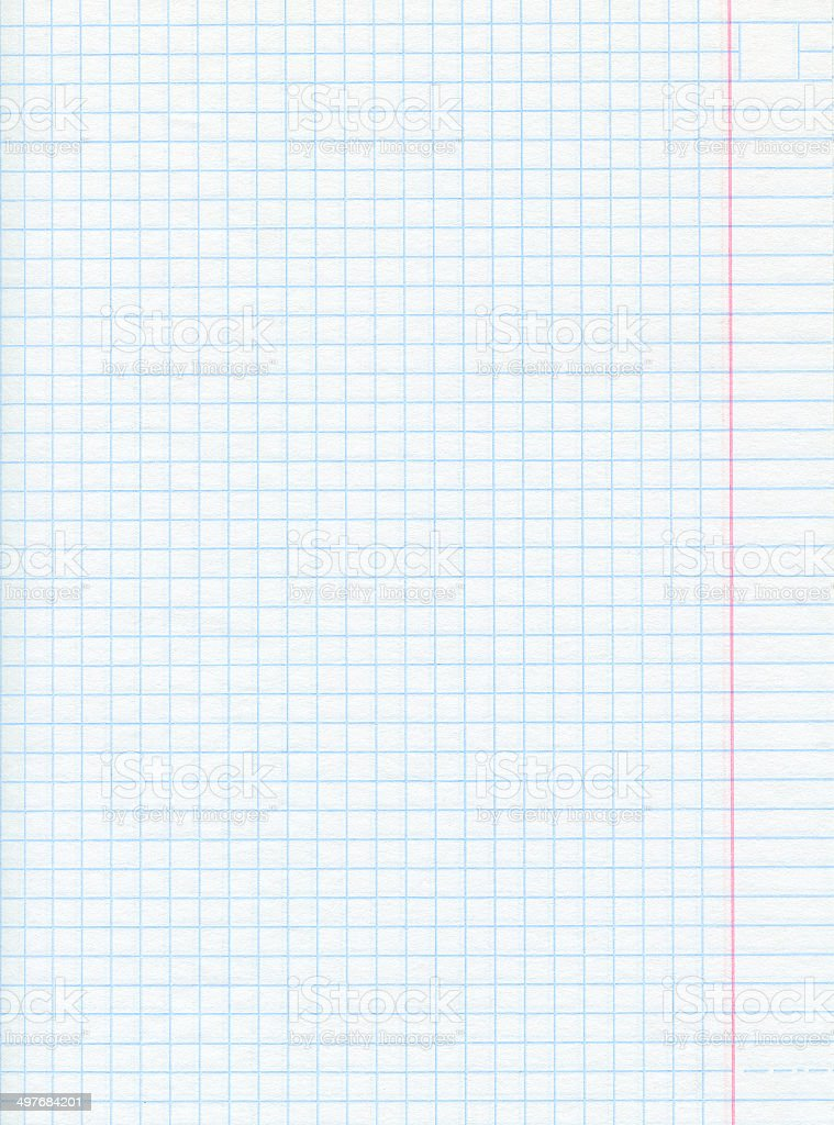 Notebook Math Paper Background stock photo