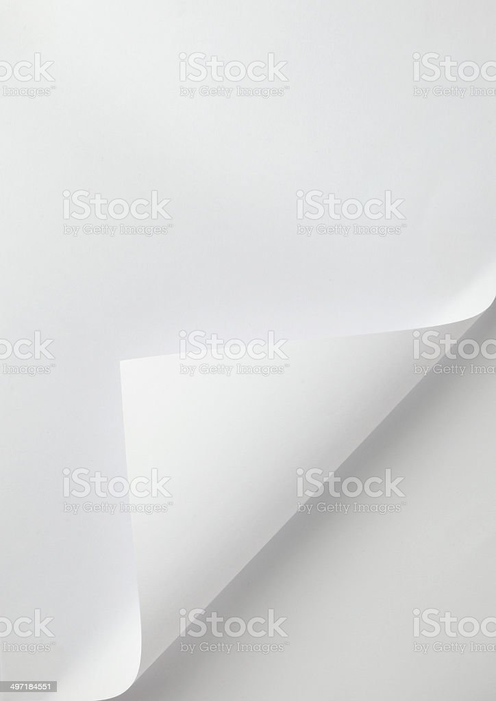 notebook office blank  paper with curl royalty-free stock photo