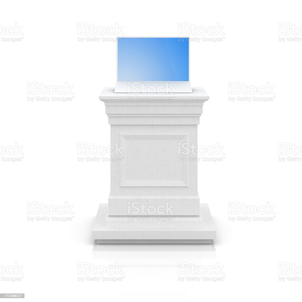 Notebook on a pedestal royalty-free stock photo