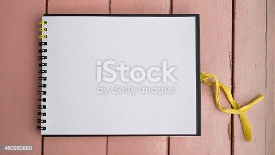 istock Notebook on desk 480980660