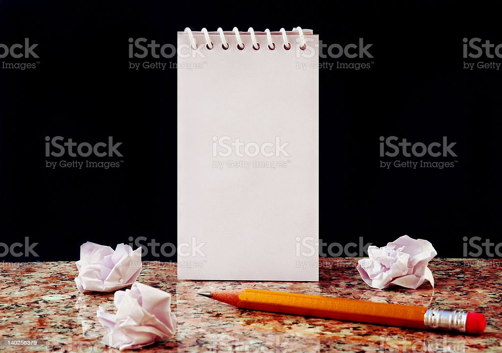 Notebook on Marble royalty-free stock photo
