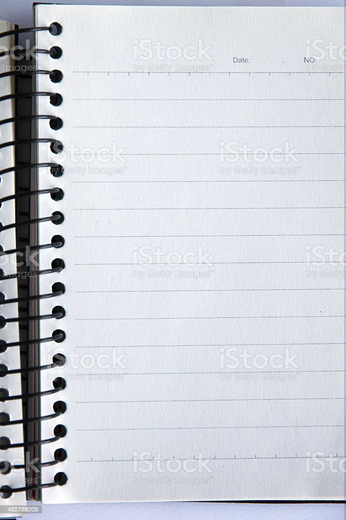 Notebook on the copy. stock photo