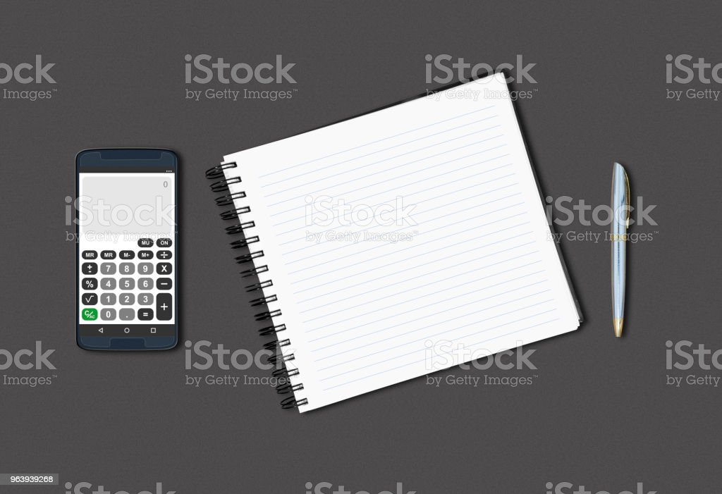 Notebook on the table - Royalty-free Blank Stock Photo